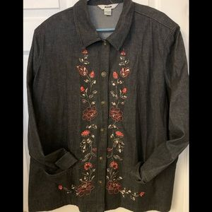Plus size 24w cotton denim top